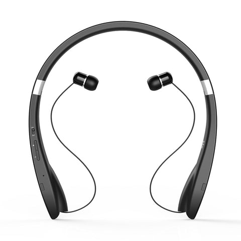 Image of Wireless Headphones Sports Earphones With Microphone Folding Retractable Neckband Headset