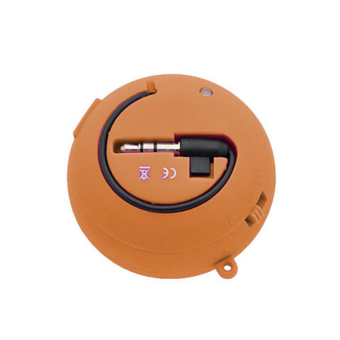 Image of Wired Speaker Portable Audio Multimedia Rechargeable Orange