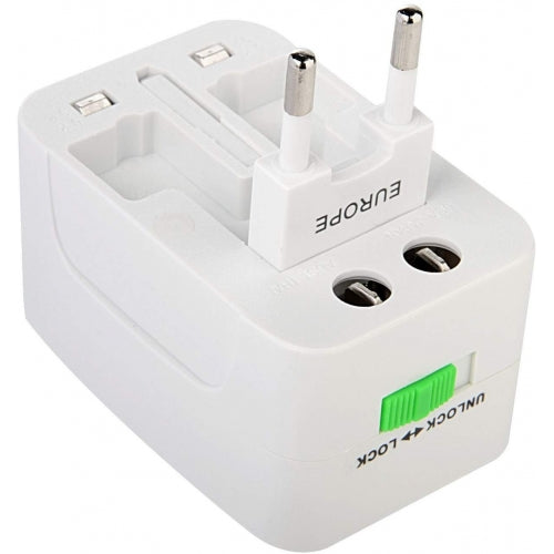 International Charger USB 2-Port Travel Adapter Plug Converter AC Power