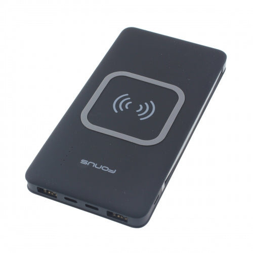 10000mAh Power Bank Wireless Charger Backup Battery Portable Built-in Adapters Slim