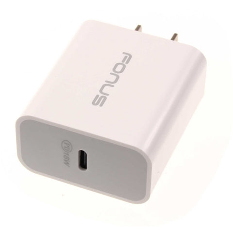 Image of 18W PD Home Charger Fast Type-C Power Adapter - White