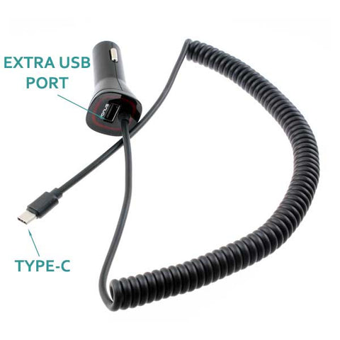 Image of Car Charger 3.4A Type-C Power Adapter DC Socket