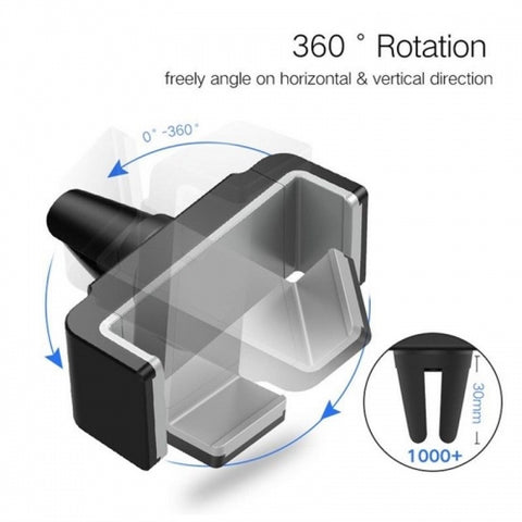 Image of Car Mount Air Vent Holder Rotating Cradle Strong Grip