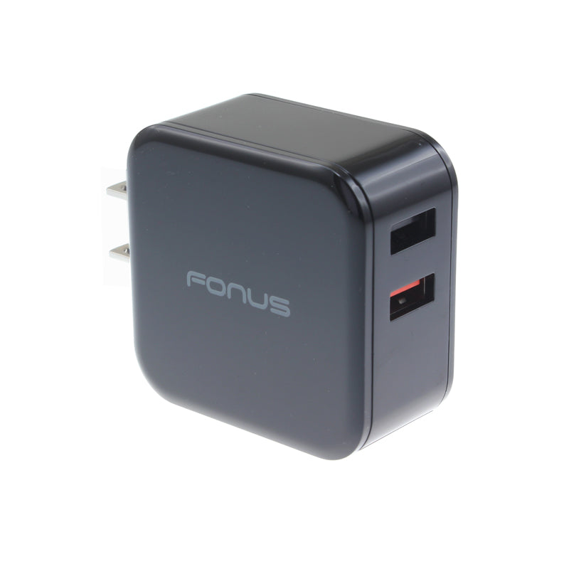 Fast Home Charger 30W 2-Port USB Quick Charge Port Travel Wall