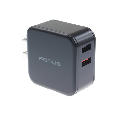 Image of Fast Home Charger 30W 2-Port USB Quick Charge Port Travel Wall