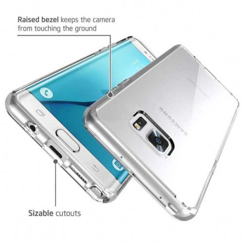 Image of Shock Absorbent Hybrid Bumper Case Clear Back Cover Clear