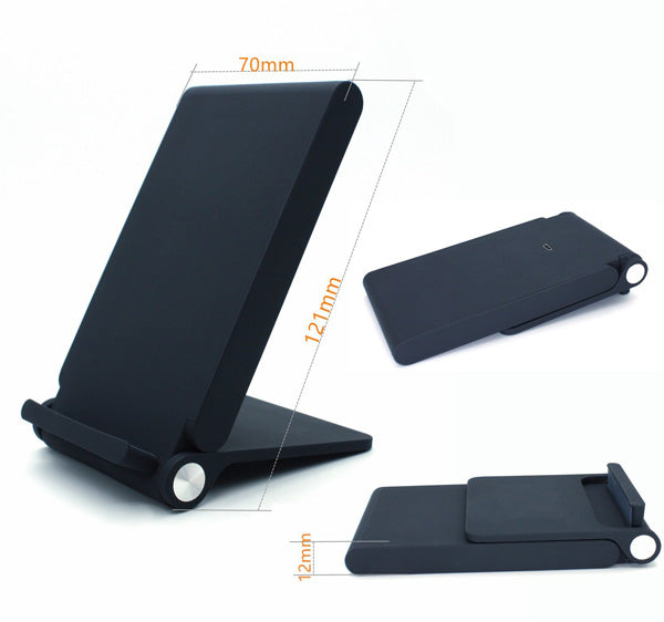 Wireless Charger 10W Fast Folding Stand 3-Coils Charging Pad