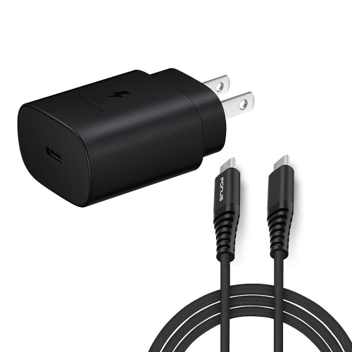25W Fast Home Charger PD Type-C 6ft USB-C Cable Power Adapter