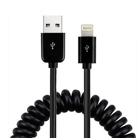 Image of USB Cable Coiled Charger Cord Power Sync