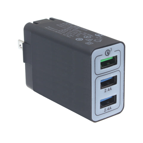 Image of Home Charger 34W 6.8Amp 3-Port USB One Fast Port Travel