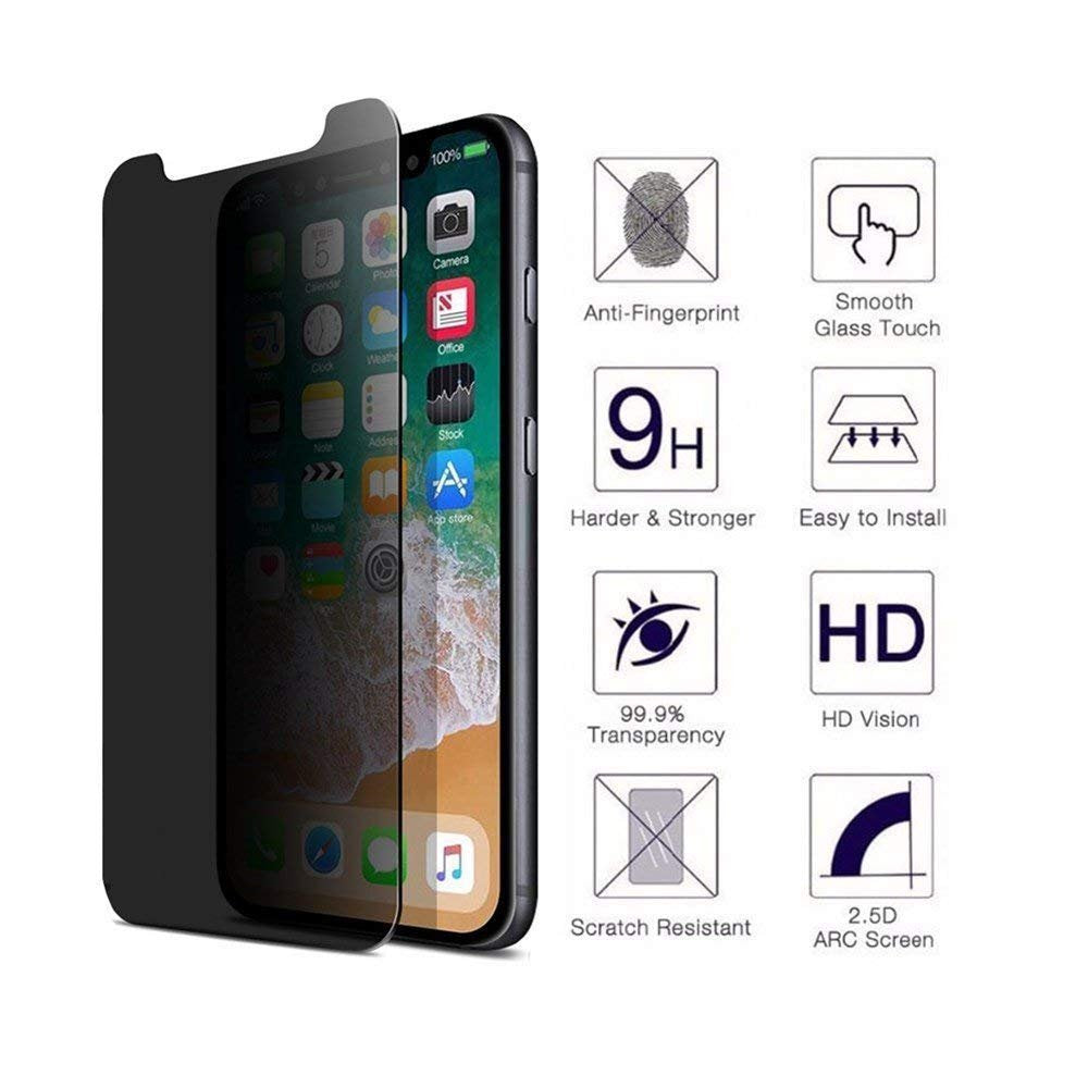 Privacy Screen Protector Tempered Glass Curved Anti-Spy Anti-Peep 3D Edge