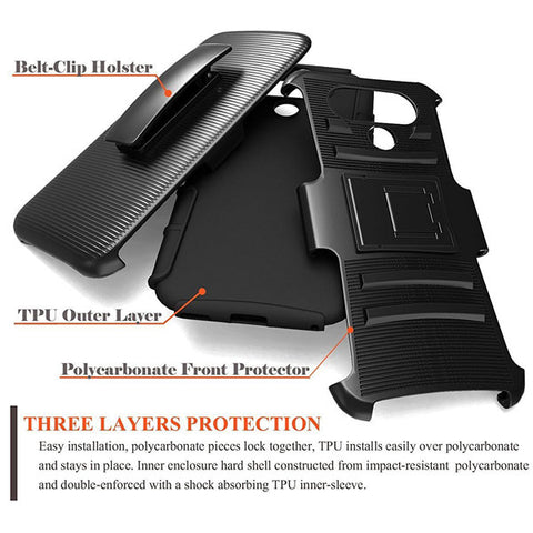 Image of Case Belt Clip Holster Swivel Cover Kickstand Armor