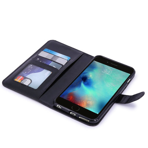 Image of Flip Case Wallet Cover Leather Card ID Slots