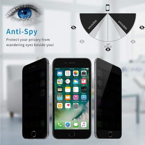 Image of Privacy Screen Protector Tempered Glass Curved Anti-Spy Anti-Peep 3D Edge