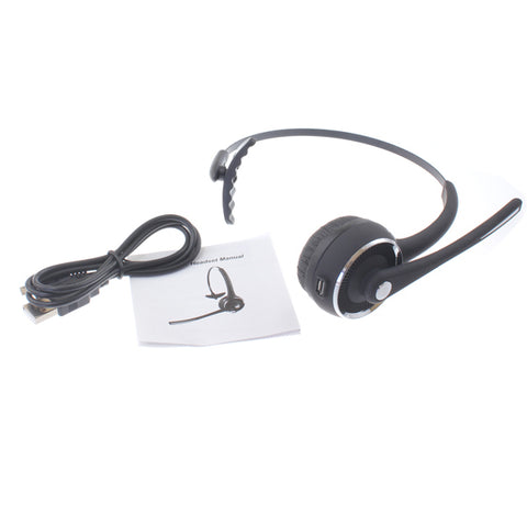 Wireless Headset Boom Microphone Headphone Hands-free Earphone Over-the-Head