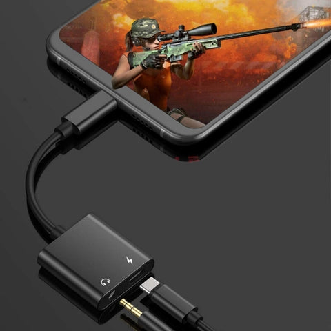 USB-C Headphone Adapter Earphone 3.5mm Jack Charger Port Splitter Mic Support