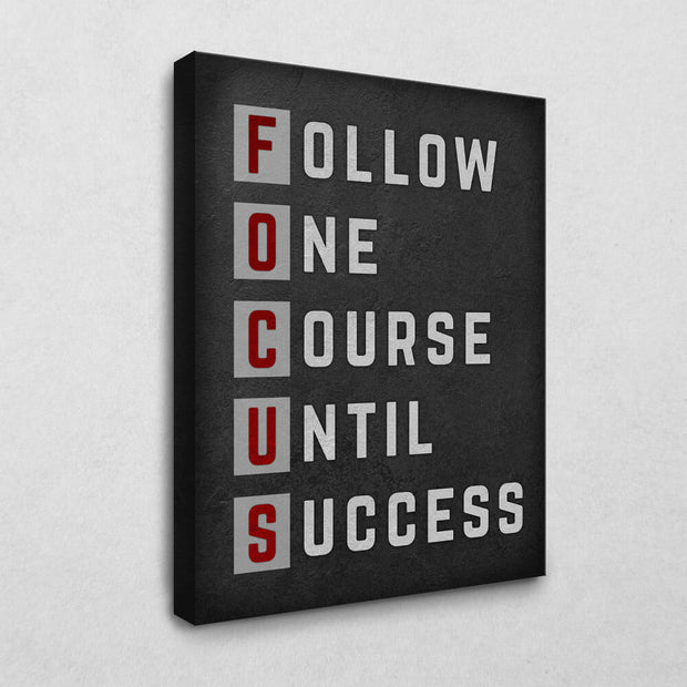 Focus to succeed