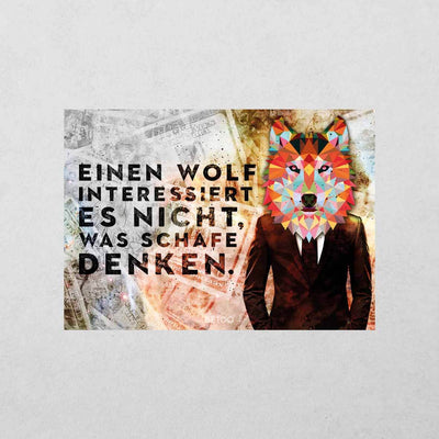 Der Wolf Sticker