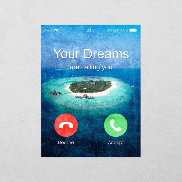 Your Dreams are calling you Sticker