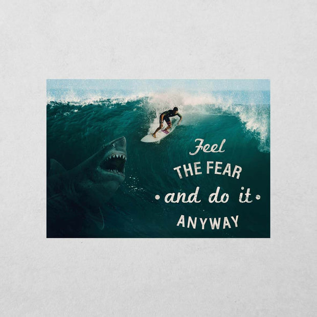 Feel the Fear Sticker