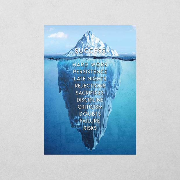 Iceberg of Success Sticker