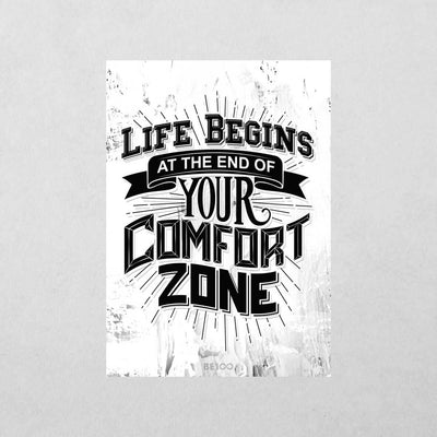 No Comfort Zone Sticker