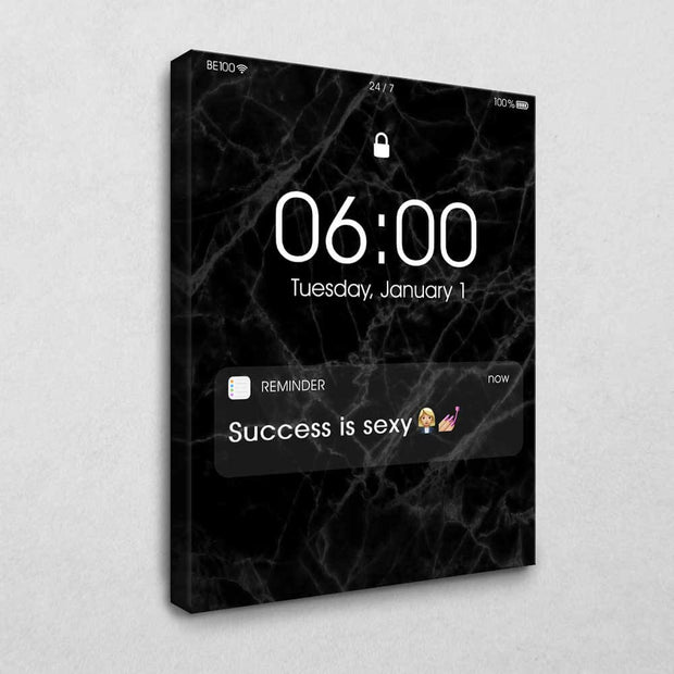 Success is sexy Reminder (Black Edition)