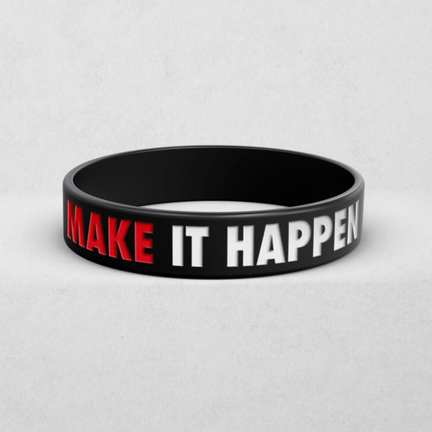 Produktivitäts-Bundle (Tagesplaner, Kugelschreiber & Armband-MAKE IT HAPPEN)