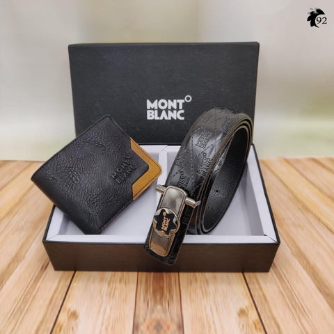 Mont Blanc  Belt + Wallet