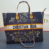 CHRISTIAN DIOR OBLIQUE BOOK TOTE BAGS.