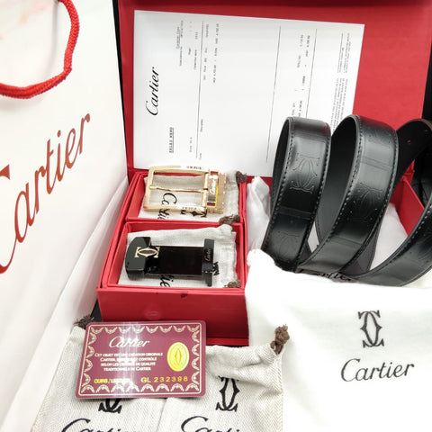 Cartier Double Buckle Belts