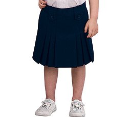 French Toast Girls' Front Pleated Skirt - Black, 14