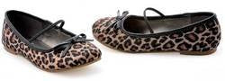 Ellie Shoes - Leopard Ballet Flat Child Shoes, Brown, Large (2/3)