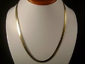14k Gold Filled Flat Herringbone 24  Chain Necklace by jbt