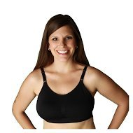 Serenity Comfort Nursing Bra with Seamless Healing Pocket and Removable Molded Pads-medium by Nizo Wear (Small, Black)
