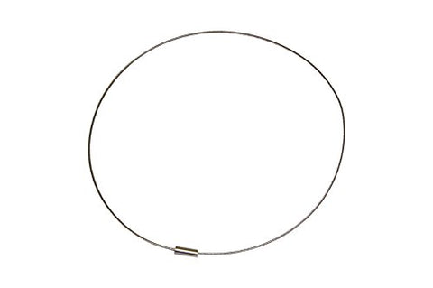 Lot of 3 ' Silver Tone ' Tone 18  Stainless Steel Cable Choker Chokers with Screw Clasp Necklace NEW