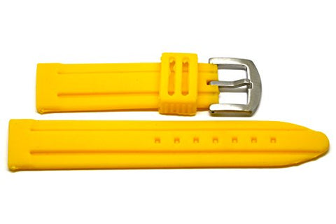22MM YELLOW SOFT SILICONE RUBBER SPORT DIVER WATCH BAND STRAP FITS INVICTA
