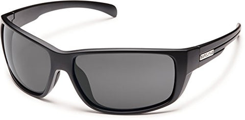 Suncloud Polarized Sunglasses Milestone in Matte Black with Grey Lens