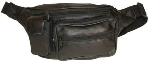 Top Quality Genuine Leather Waist Bag Fanny Pack with Adjustable Strap by Marshal