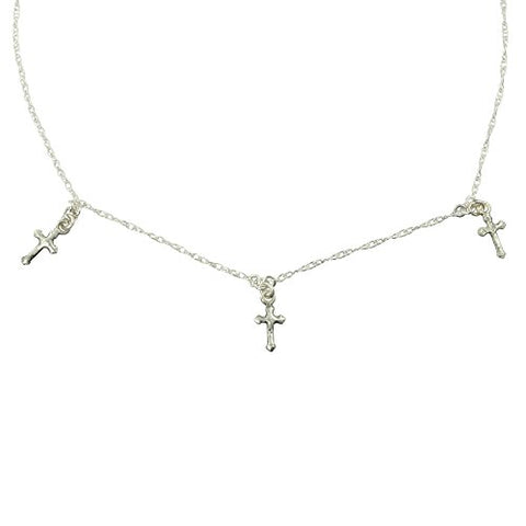 Santa Monica Cross Choker Silver - VSA - Virgins Saints Angels Jewelry