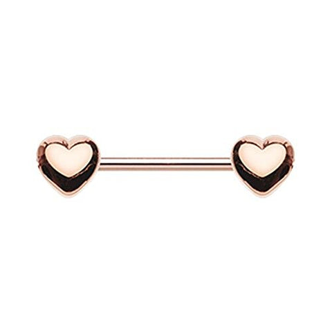 Rose Gold Classic Heart WildKlass Nipple Barbell Ring