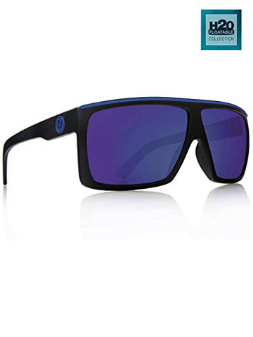 Dragon Alliance Fame Polarized Large Fit Sunglasses, H2O Matte Black, One Size