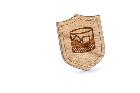Whiskey Lapel Pin, Wooden Pin