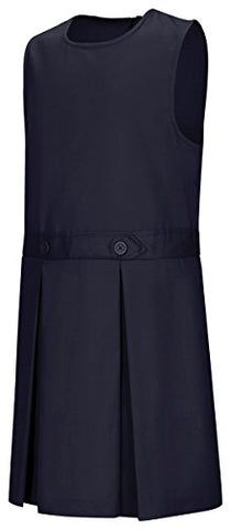 Classroom Uniforms 54453 Girl's Plus Kick Pleat Jumper Dark Navy Size 20 Plus