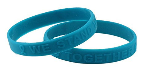 Teal (Raised Letter) Silicone Bracelets Teal Buy 1 Give 1 Child / Youth Size --2 Bracelets for $8.99