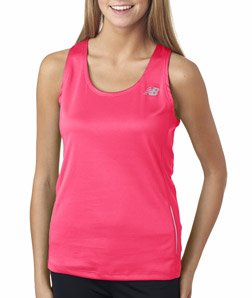 New Balance Womens' Tempo Running Singlet (Safety Pink) (X-Small)