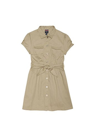 French Toast Canvas Safari Dress(Toddler Size)/Br> Khaki 3T