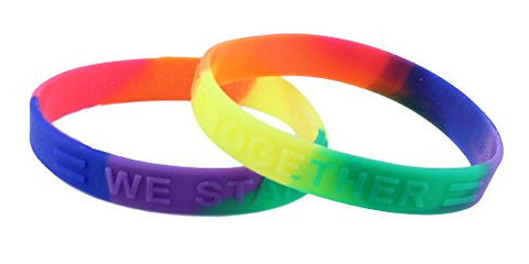 Equality / Rainbow Awareness Silicone Bracelet Child/Youth Size Buy 1 Give 1 -- 2 Bracelets for $8.99