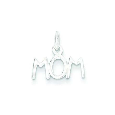 Sterling Silver Polished Mom Charm
