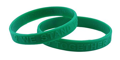 Green Awareness Embossed Silicone Bracelet Child/ Youth Size Fundraiser